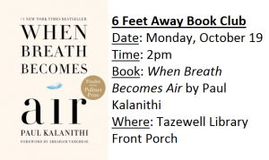 6 Feet Away Book Club @ Tazewell Library @ Tazewell Library