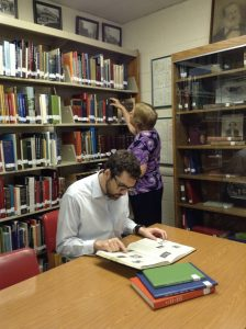Image of people using the Tazewell Library Virginia Room